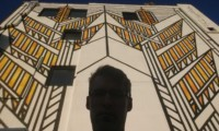 frank lloyd wright prairie style mural