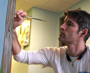 Mural artist Troy Freeman