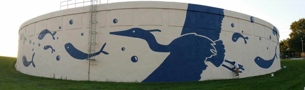 public mural painting