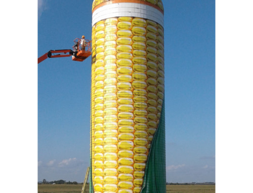 Corn Silo Advertisement Mural – Webster City, Iowa