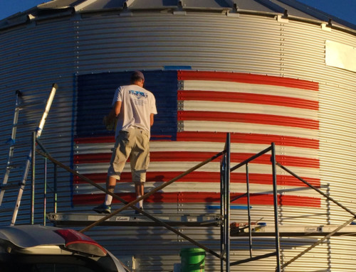American Flag Grain Bin – Lone Tree, Iowa