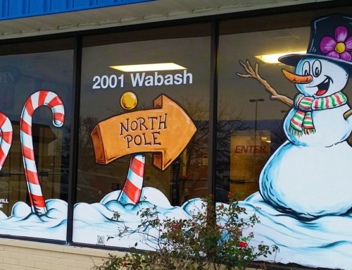 Holiday Window Painting – Goodwill Industries