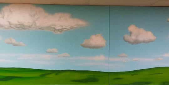landscape mural painting