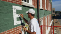historic sign restoration painting