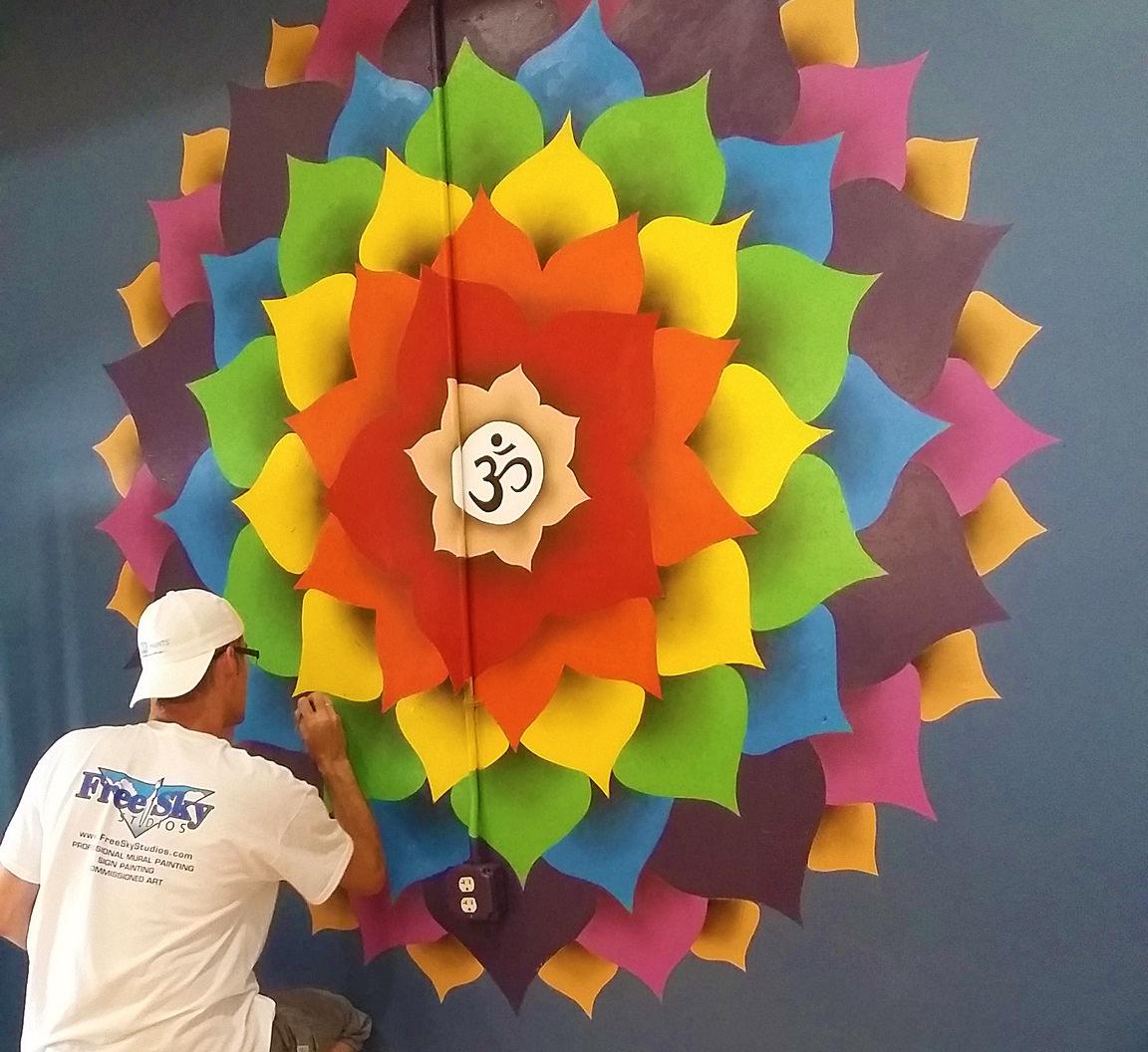 Chakra Lotus Flower Mural Painting Free Sky Studios Professional