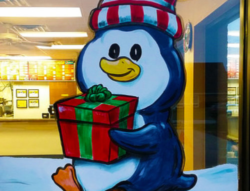 Polar Bear & Penguin Window Painting – Taco Gringo