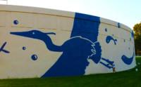 water tank mural painting