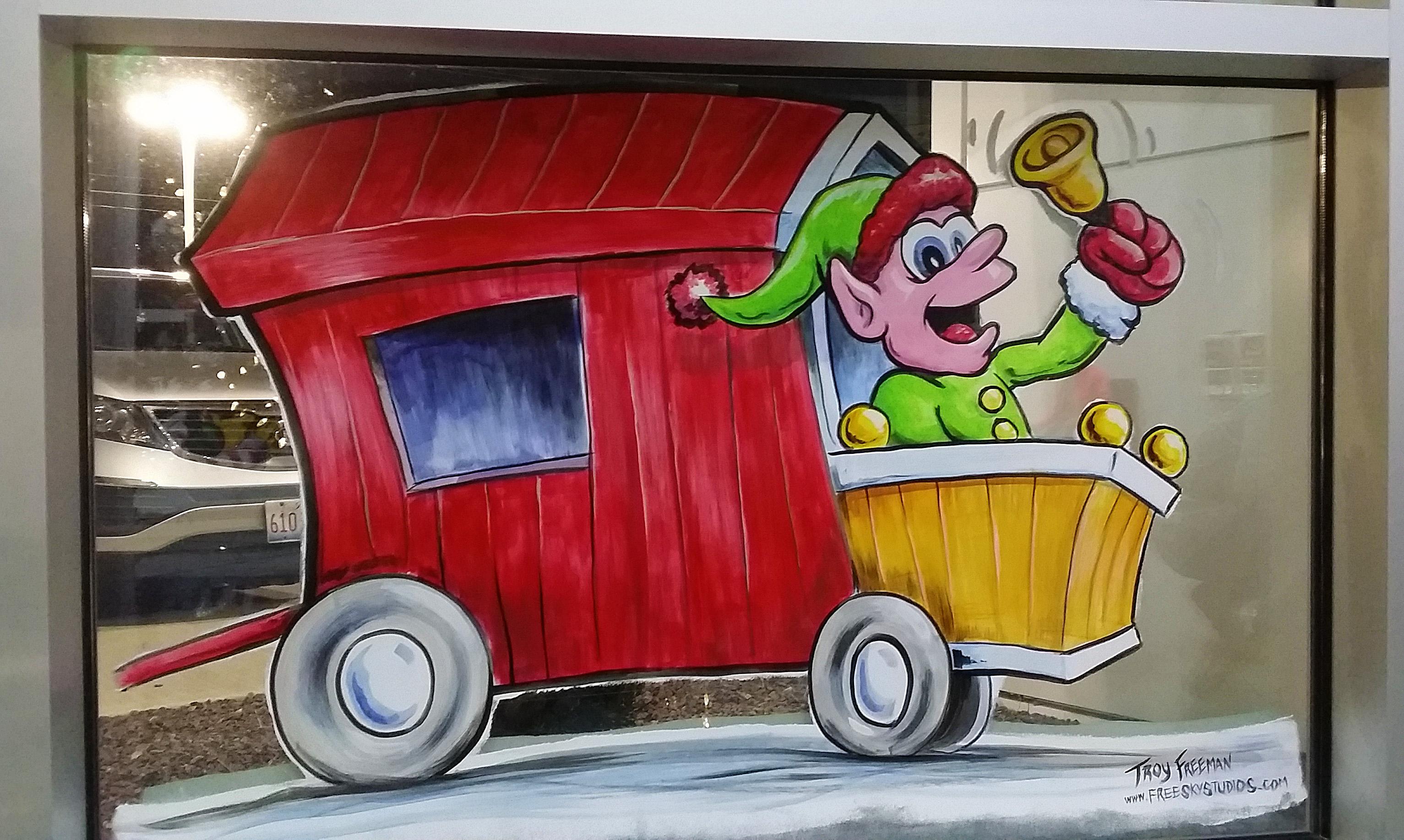 holiday train painting springfield illinois