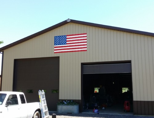 Pole Barn Flag Painting