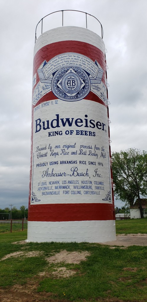 Budweiser can silo mural painting final