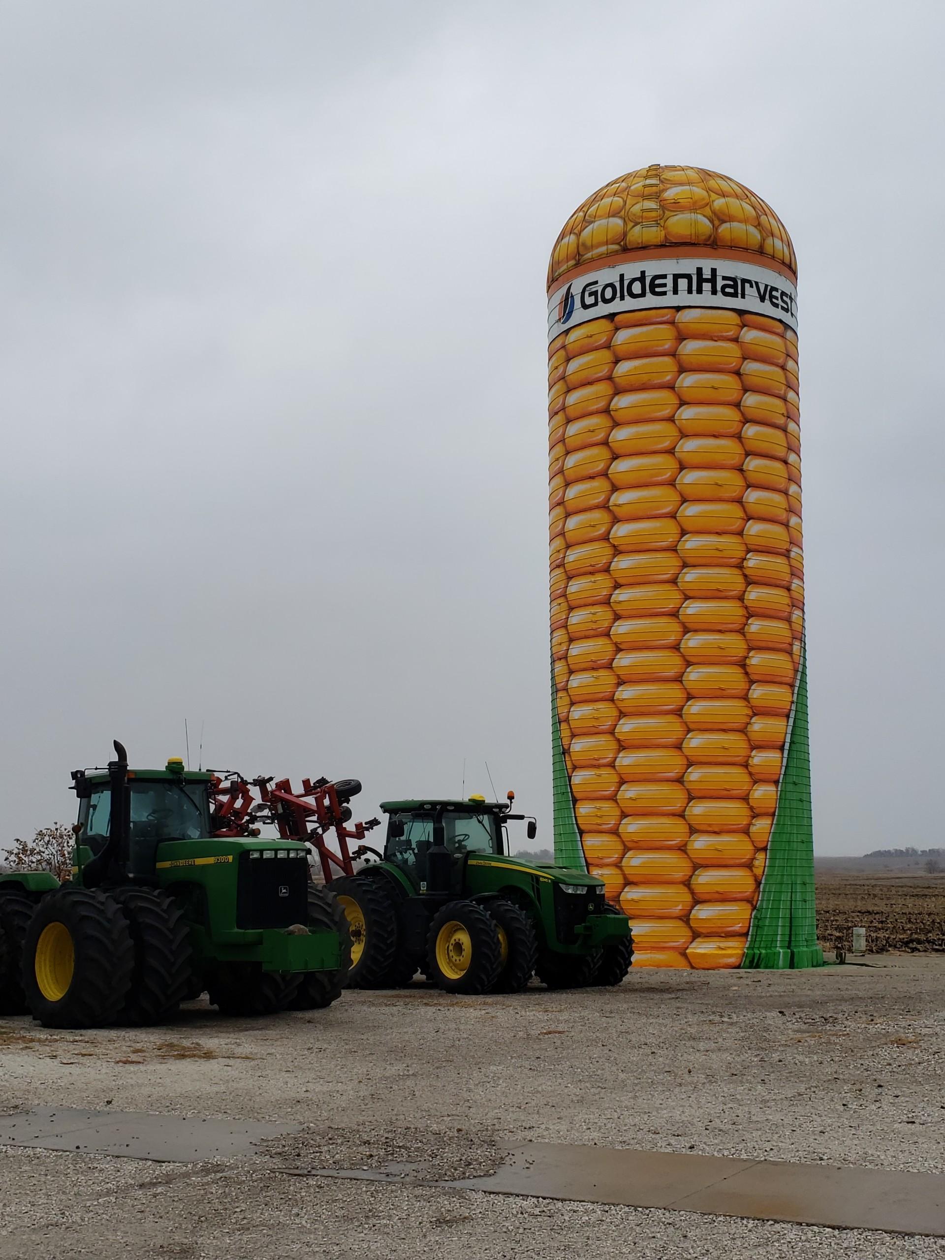 corn silo grain bin painting webster city iowa