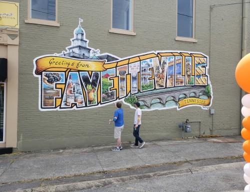 Fayetteville Postcard Mural