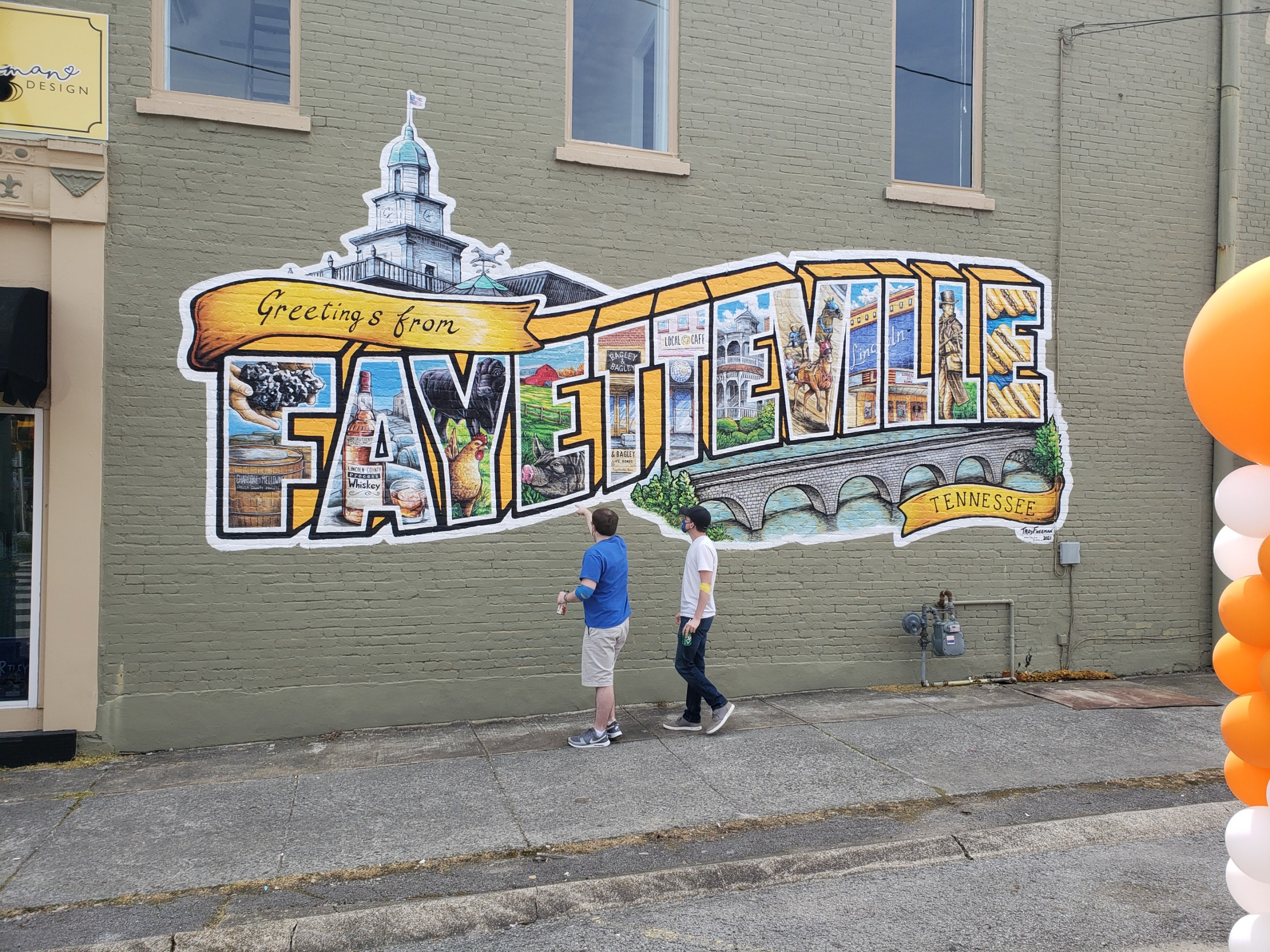 postcard mural painting fayetteville tennessee