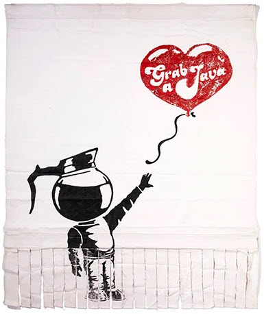 banksy grab a java banner