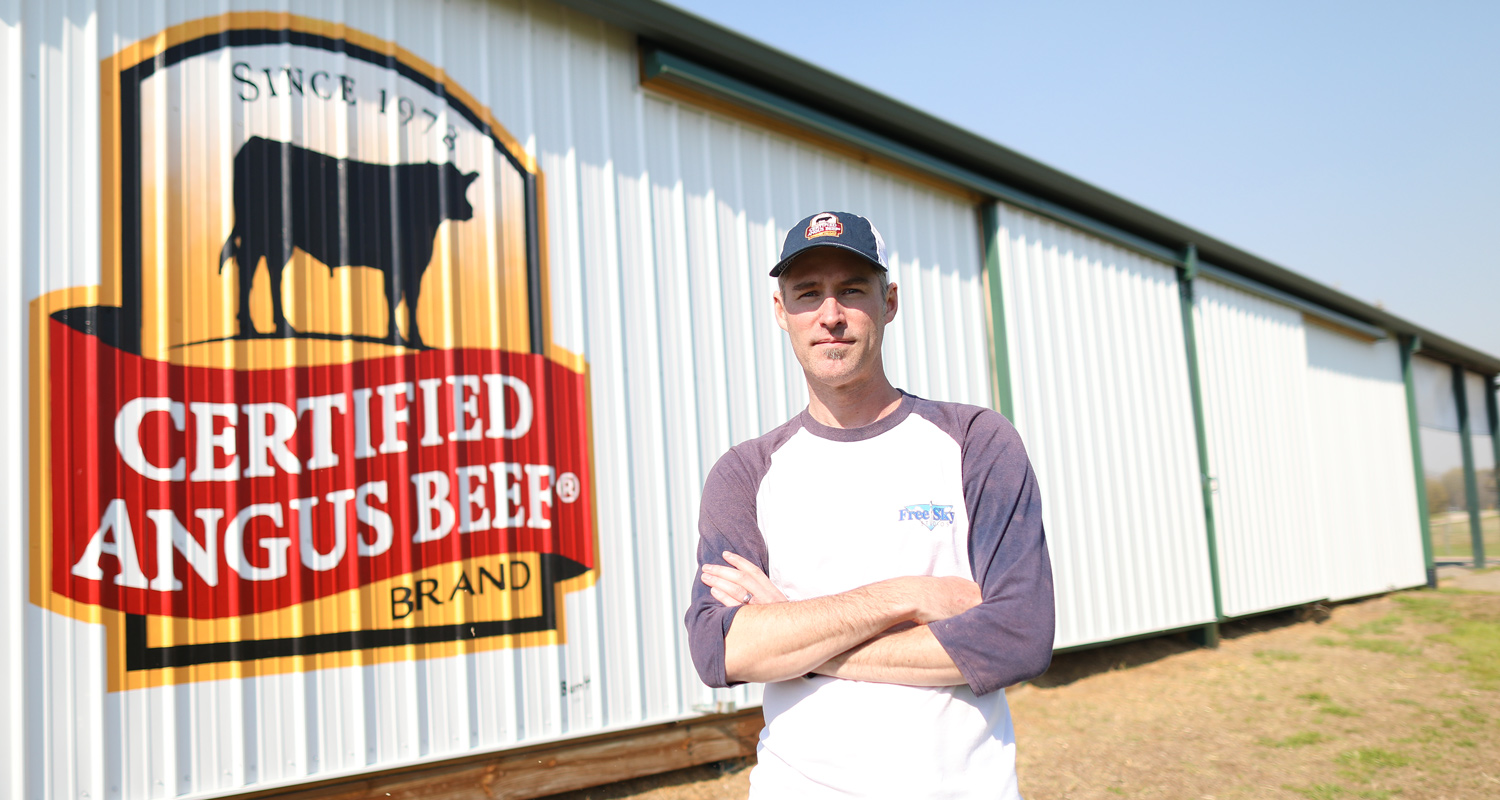 certified angus beef barn painting