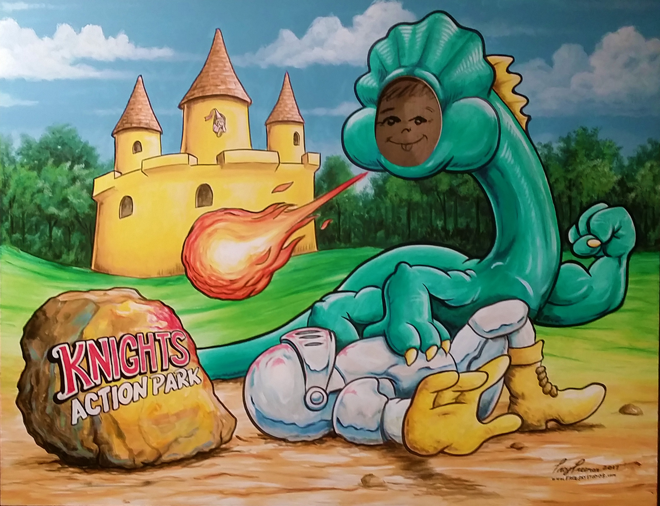 dragon photo board for amusement park