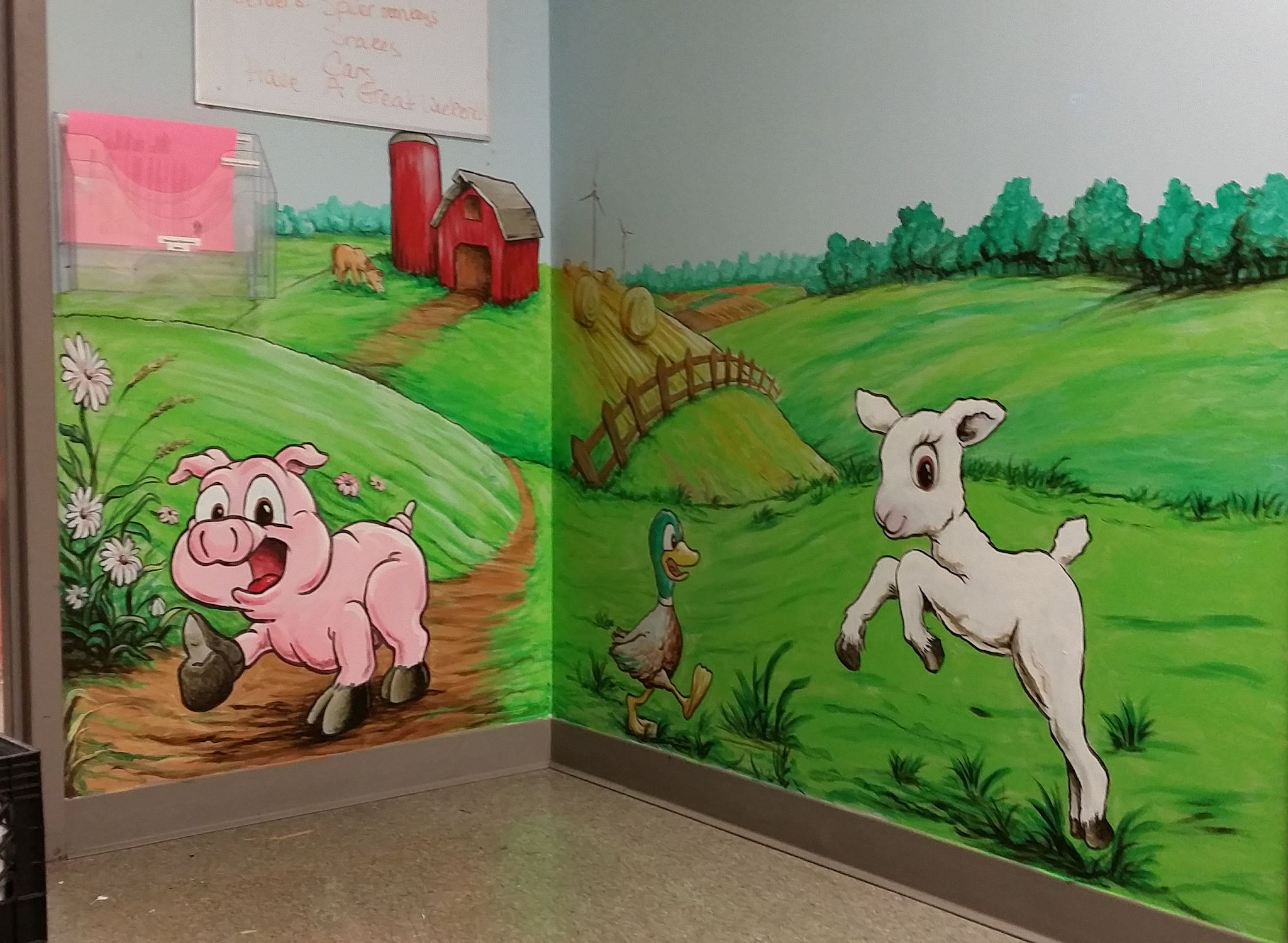 Down on the Farm Landscape Mural