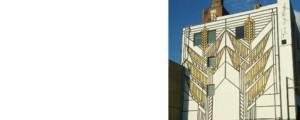 Frank Lloyd Wright sumac mural