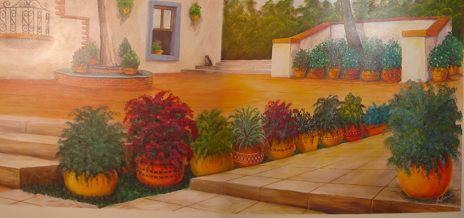 Mexican house mural painting