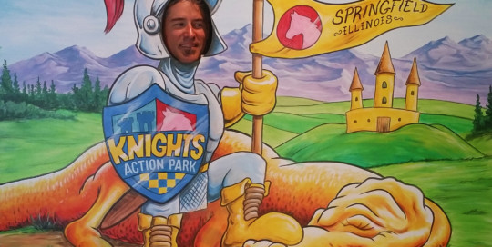 photo board of knight and dragon for Knights action park springfield illinois