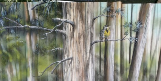 oregon landscape mural painting