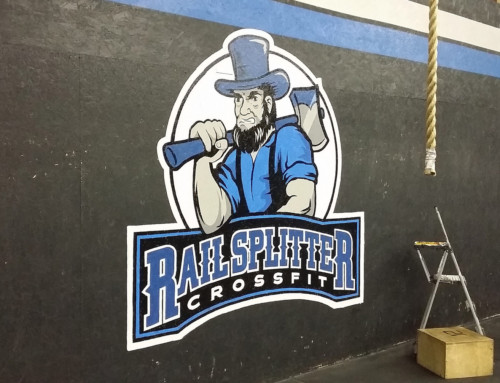 Railsplitter Crossfit Interior Logo Painting