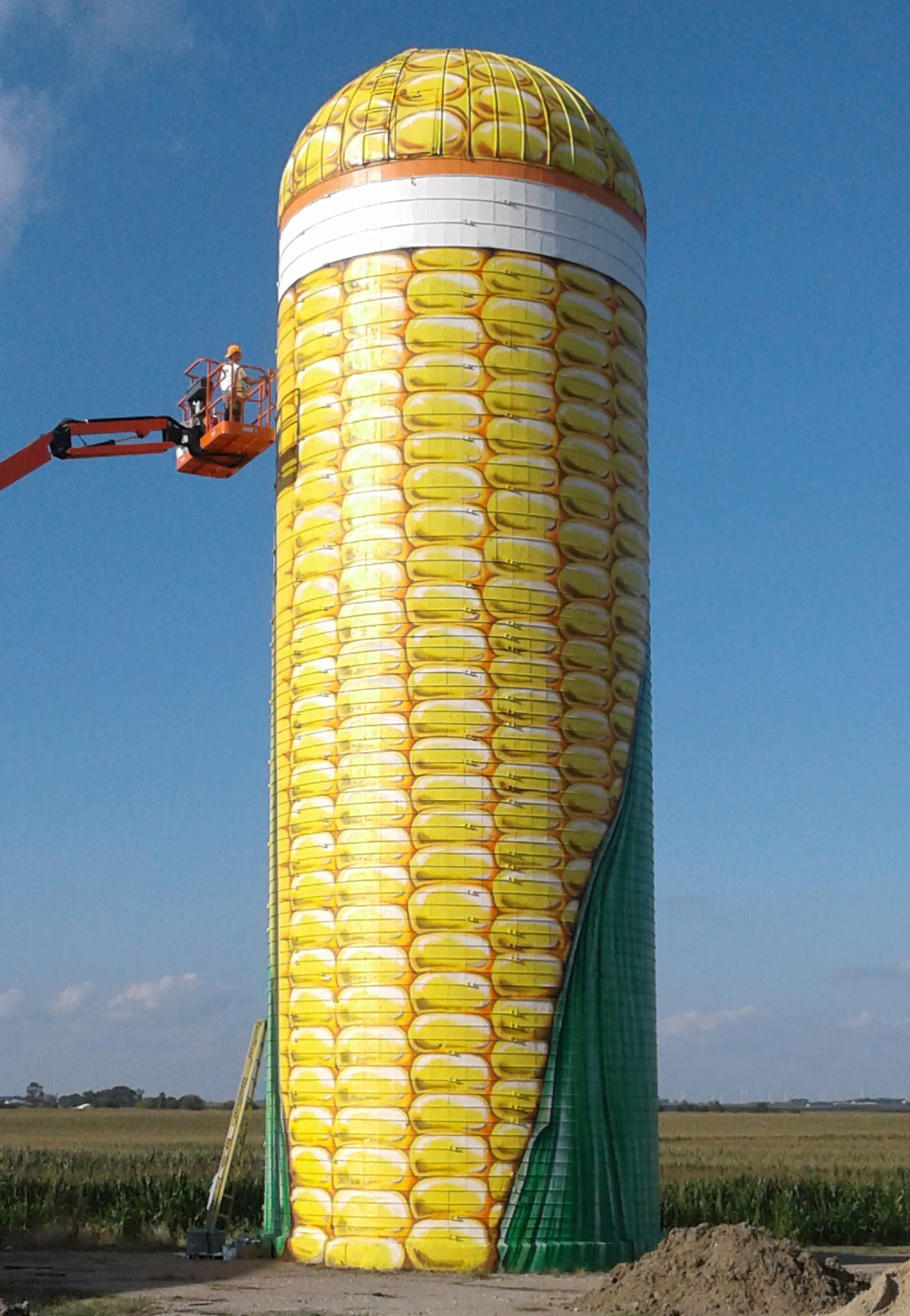 corn silo grain bin painting webster city iowa