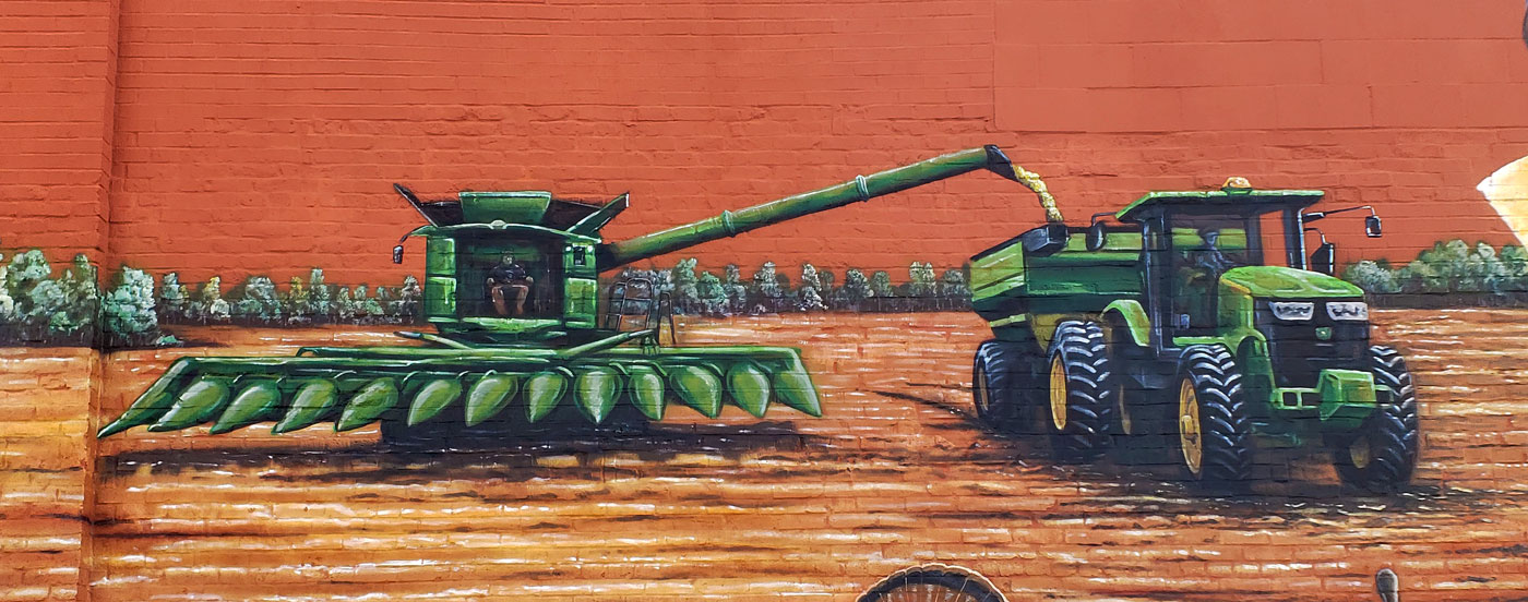 farm harvesting mural painting