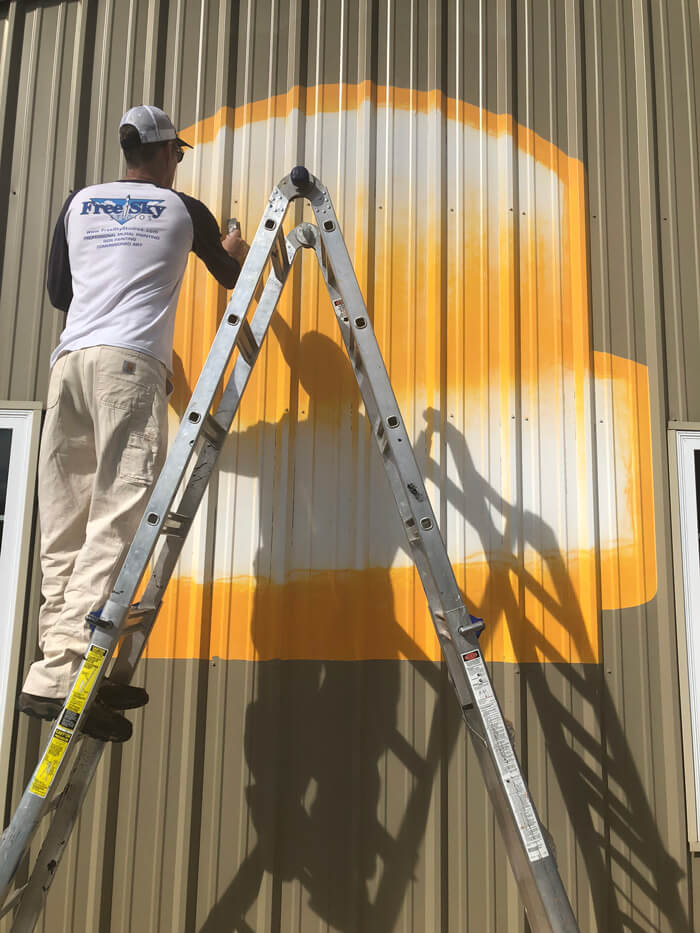 logopainting on metal in georgia
