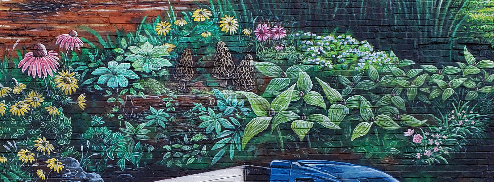 midwest foliage mural painting