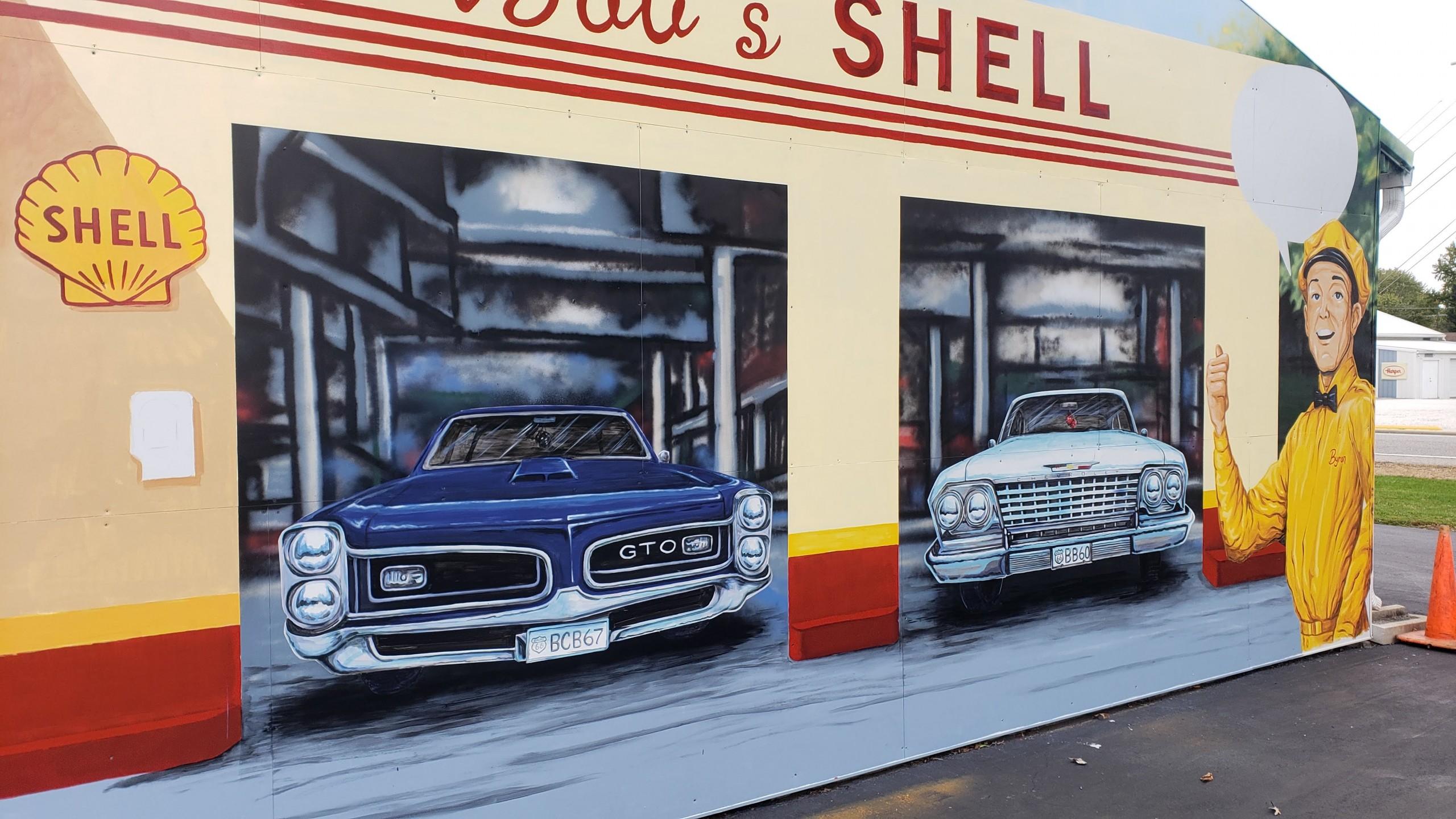 retro GTO mural painting
