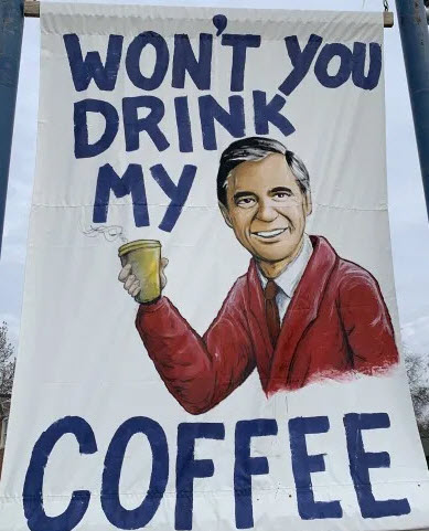 mr rogers grab a java banner