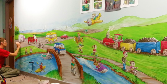 transportation mural painting