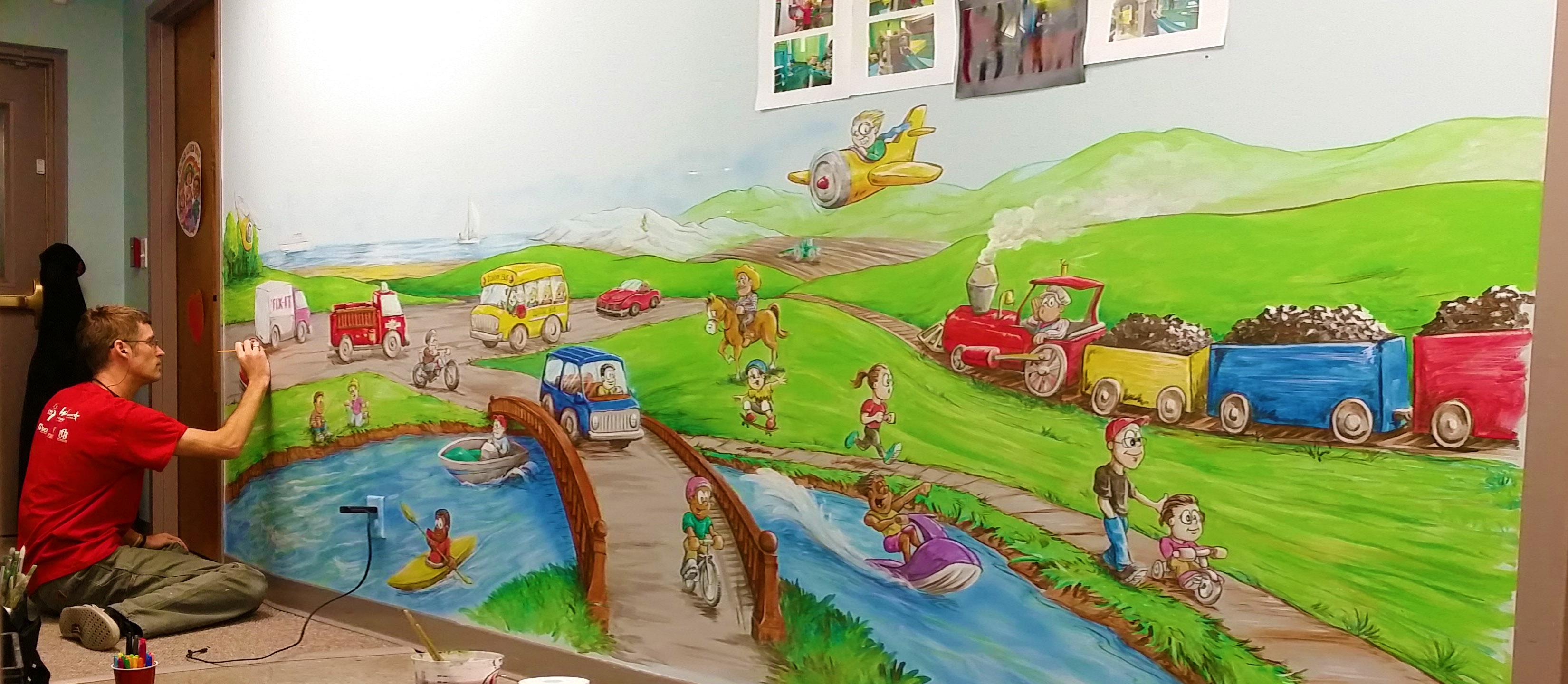 transportation mural painting