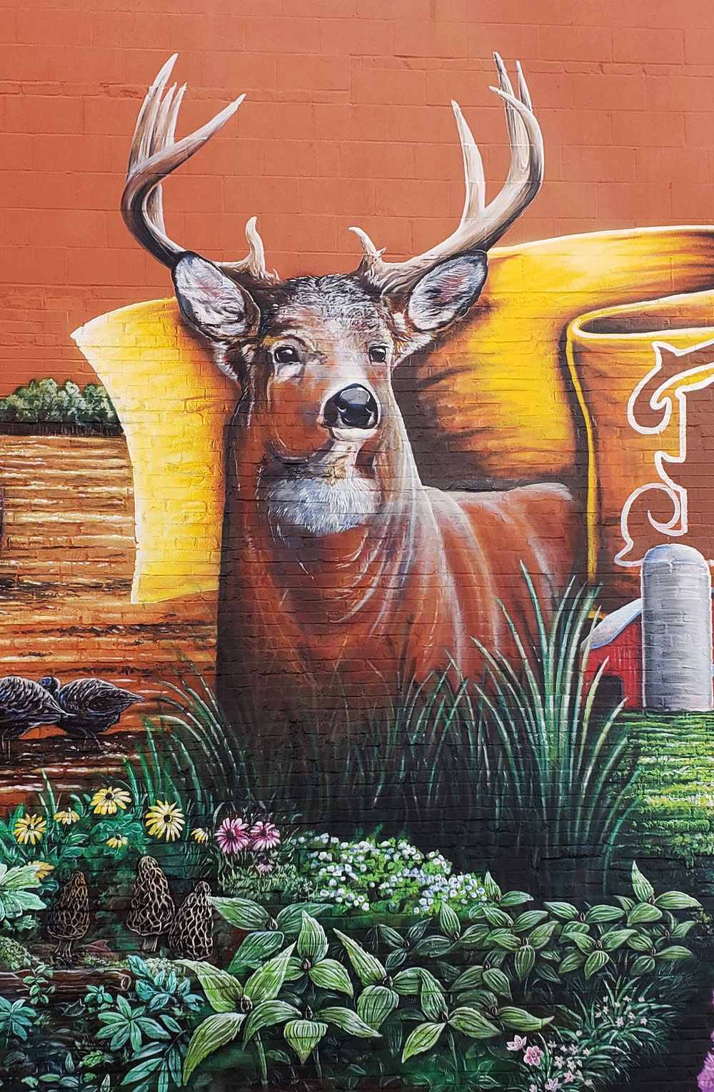whitetail deer mural painting